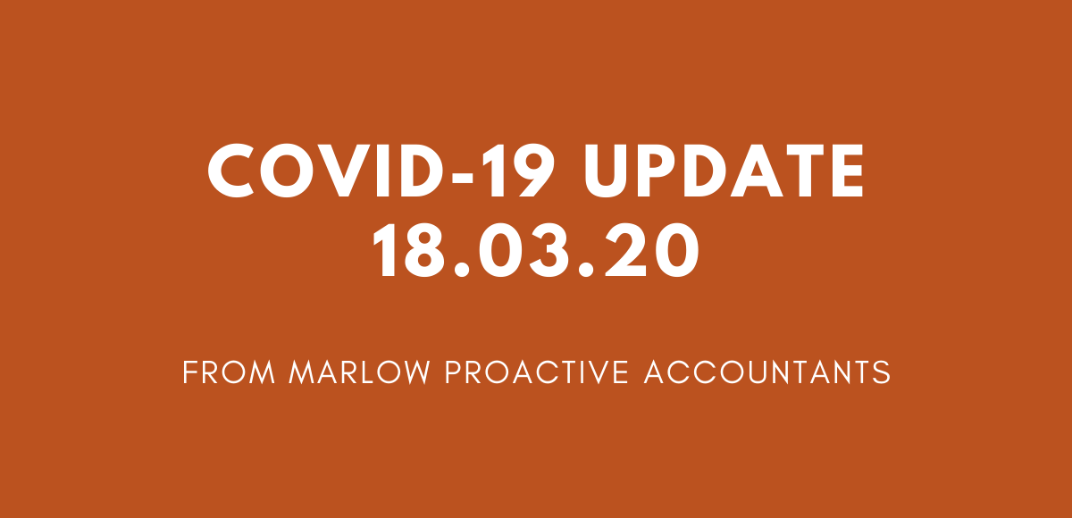 COVID-19 Update as of 18th March 2020
