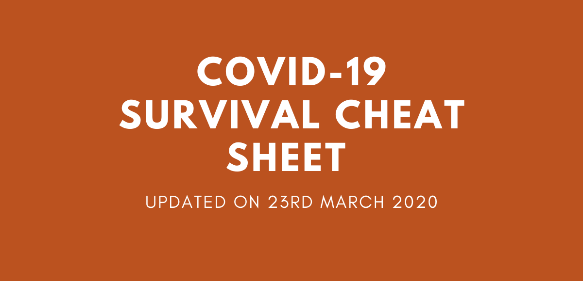 COVID-19 Business Survival Cheat Sheet